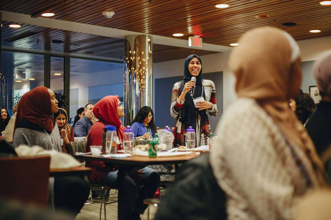 Kiran at the National Muslim Women's Summit at Harvard University