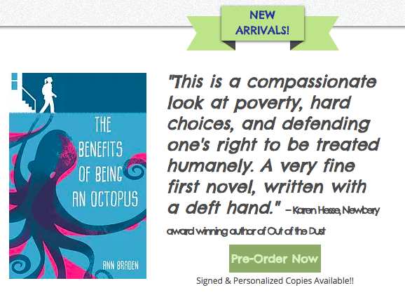 Pre-order The Benefits of Being an Octopus from Bartleby's Books