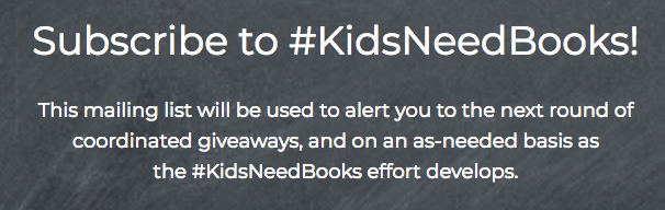 Subscribe to #KidsNeedBooks